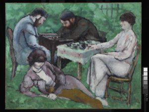 Marcel Duchamp: Die Schachpartie, 1910 (Abb.: Fundació Miro)