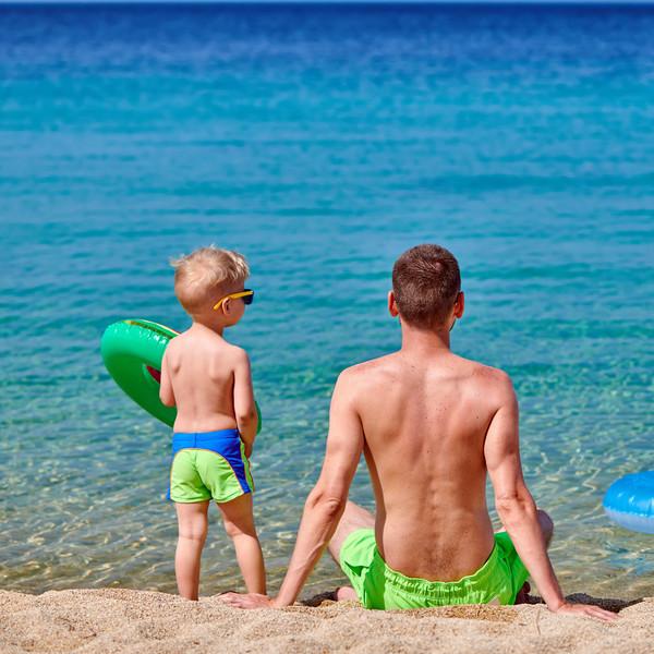 Schritt Vater Tochter Urlaub