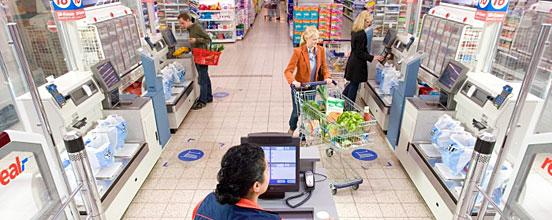 kassenbereich im einzelhandel