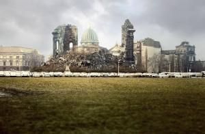 Dächer und Ruinen: Dresden in den 80er Jahren
